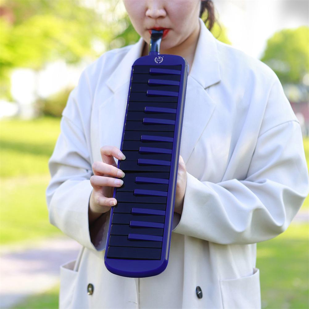 1 مجموعة Abs + النحاس بموجه الصوت الراقية 32 مفتاح اللعب لهجة البيانو مع هارمونيكا البيانو حقيبة