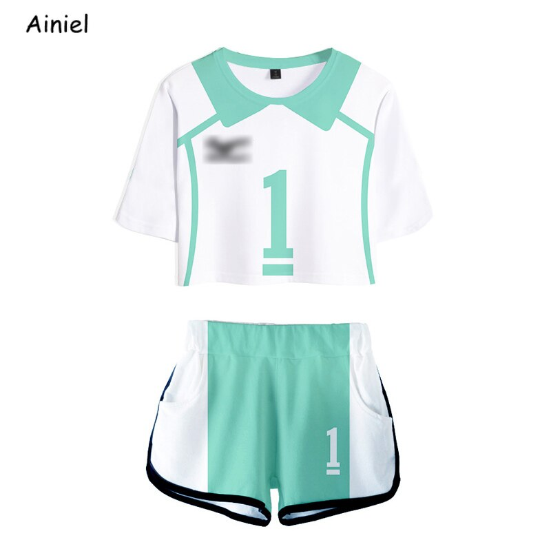 Anime Cosplay Jersey Haikyuu Oikawa Tooru disfraces uniforme de manga corta k-pops camisa pantalones cortos conjunto de mujeres traje deportivo trajes Niña