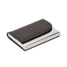 Business ID Credit Card Holder For Women Men Fashion  Leather Fold Design Multiple Card Case High Quality Porte Carte 822