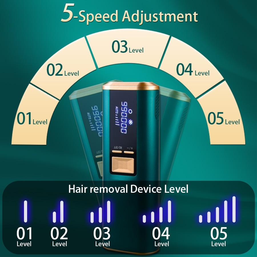 Sapphire Laser Epilator Ipl Hair Removal Device Woman Man Home Photodepilation Painless Mode Ice Facial Pulsed Light Epilator enlarge