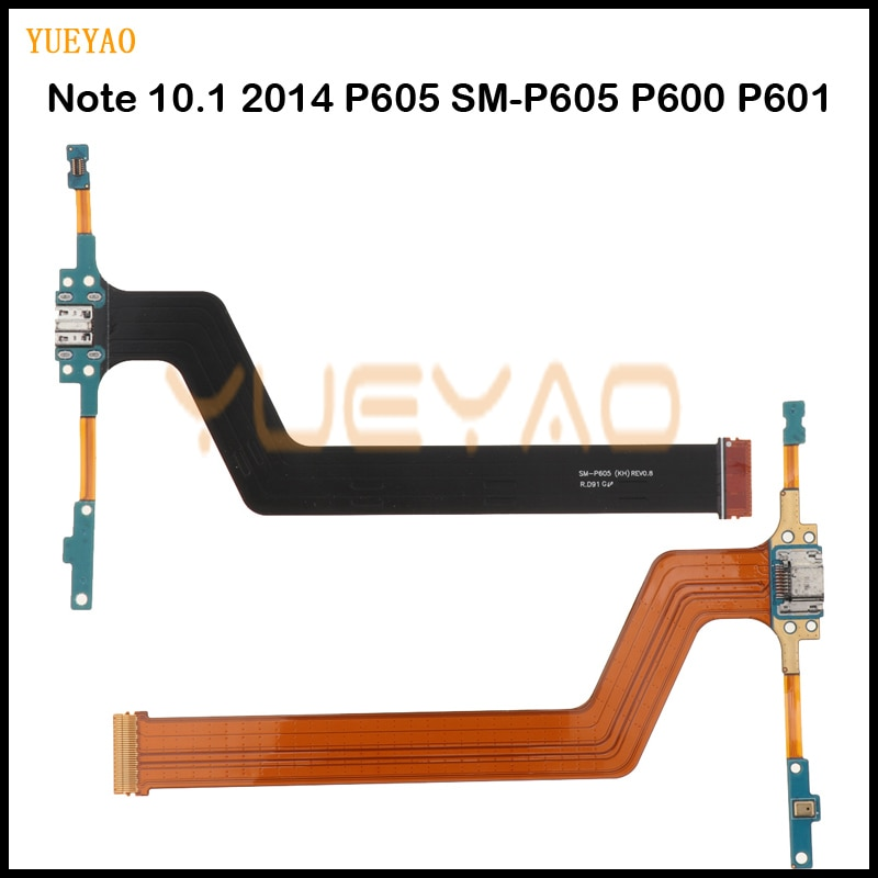 Micro USB Charging Port Connector Charger Dock Flex Cable For Samsung Galaxy Note 10.1 2014 P605 SM-