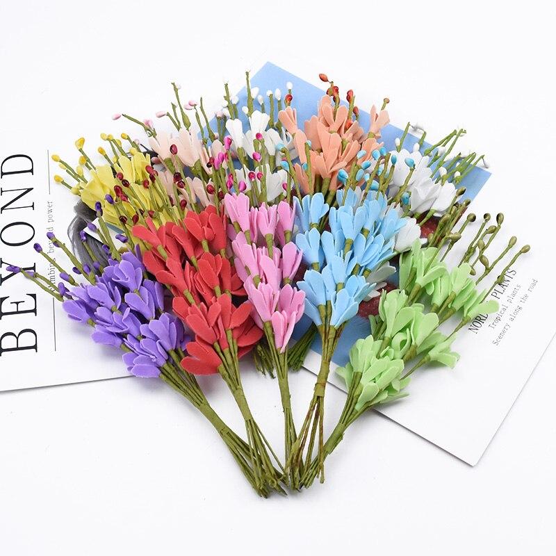 10 pieces Foam peach branch vases for home decor wedding Bride wrist flower diy gifts christmas garland artificial flowers cheap