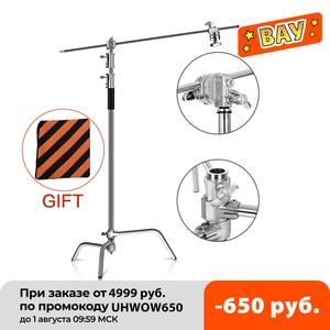 Складной светильник из нержавеющей стали 2,6 м/8, 5 футов, штатив, Волшебная подставка для фотографии, точечный светильник, софтбокс, Фотостудия