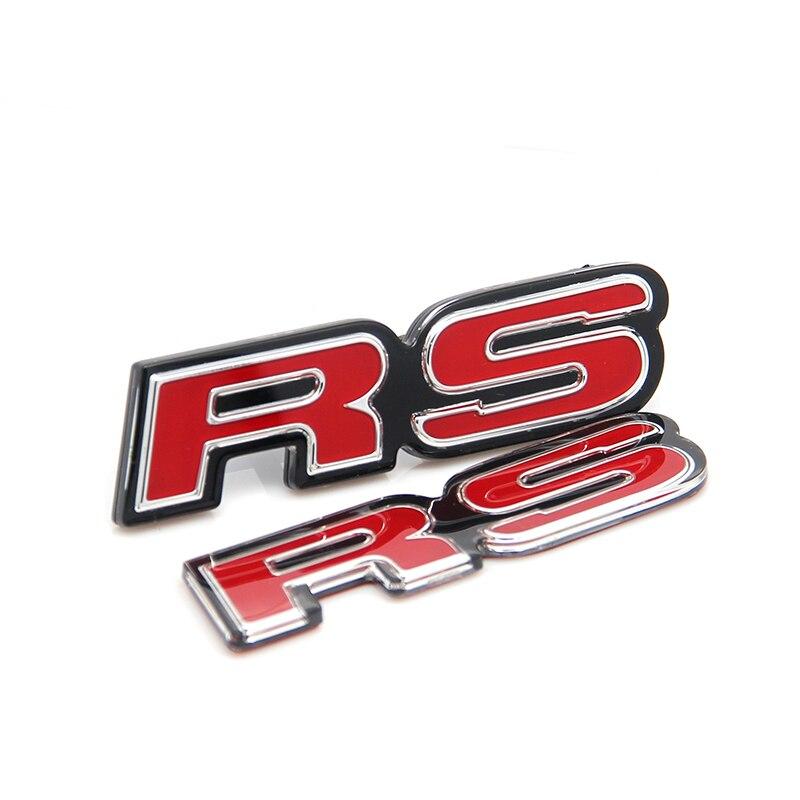Etiqueta vermelha genuína do emblema do logotipo da carta de rs para honda ajuste jazz gk5 universal multi modelo
