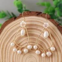 water drip hanging dangle drop earrings for women female freshwater pearl earrings wedding party jewelry accessories