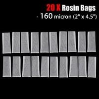 20pcs 2 x 4 5 micron rosin press filter bags nylon screen with flap