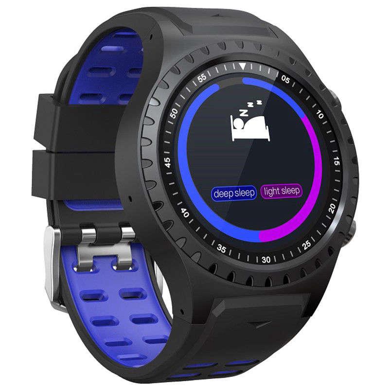 M1 Smartwatch pantalla a Color de 1,3 pulgadas Multi-deportes modos dinámicos brújula Gps Hrm negro + azul