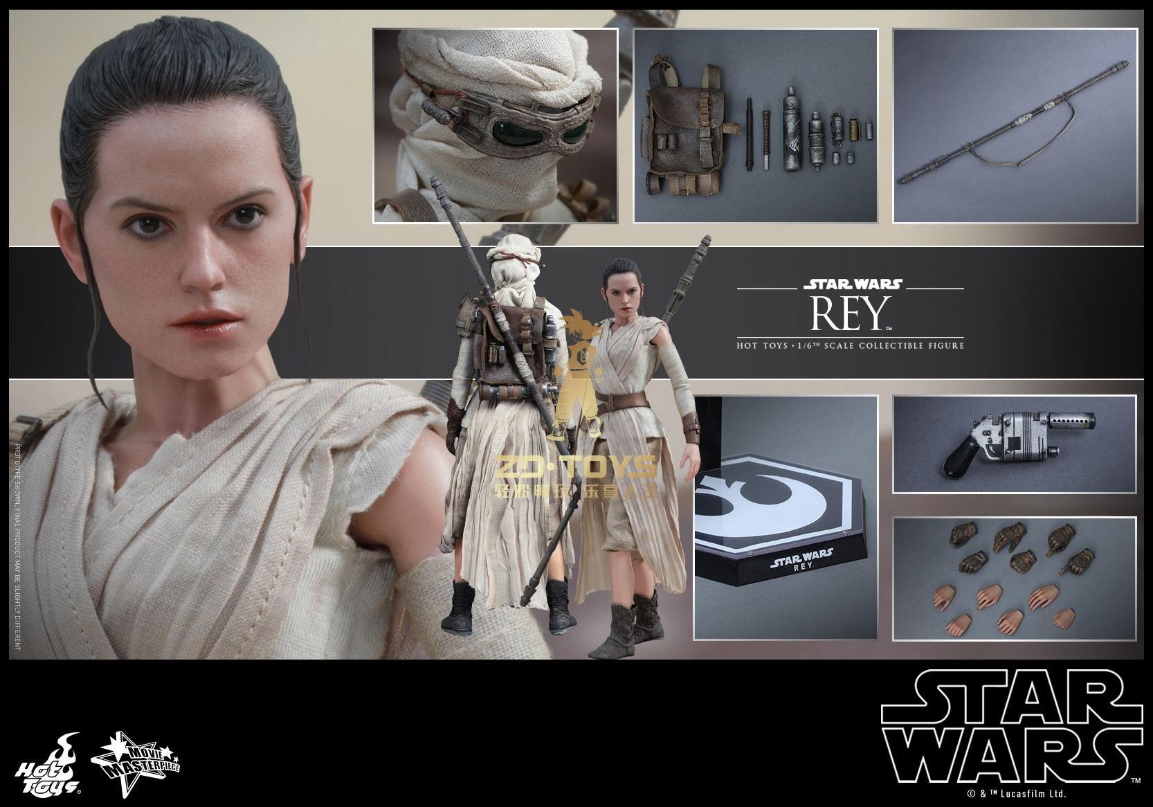 Juguetes calientes MMS336 MMS337 Star Wars El despertar de la fuerza Rey Daisy Ridley 12 pulgadas figura nueva