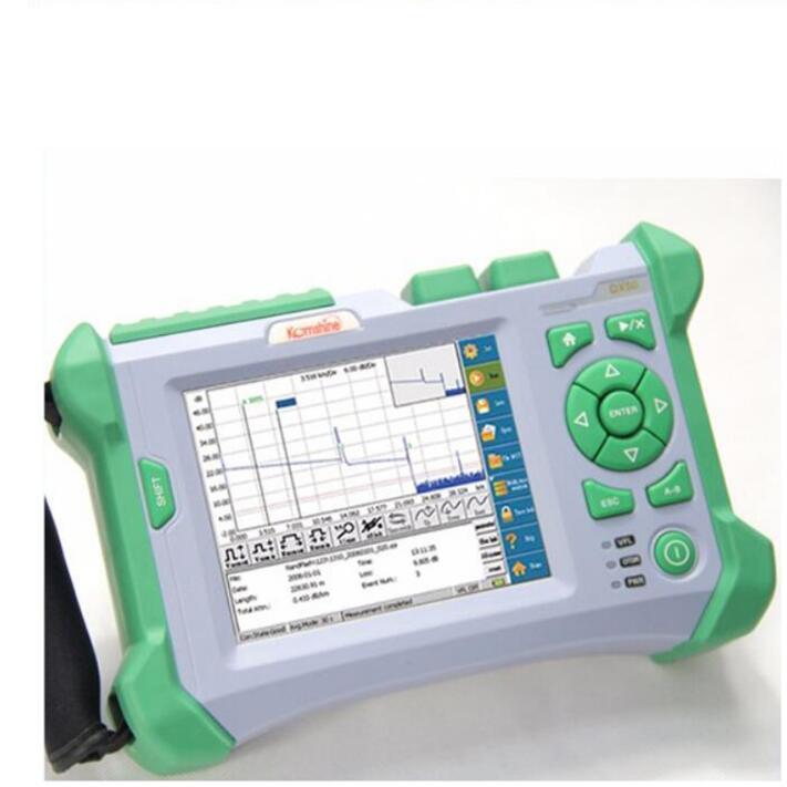 Máquina de empalme por fusión FTTH KOMSHINE GX37 w/ KF-52 Cleaver + QX50-S SM1310/1550 nm 30dB OTDR + medidor de potencia óptica + fuente láser + VFL
