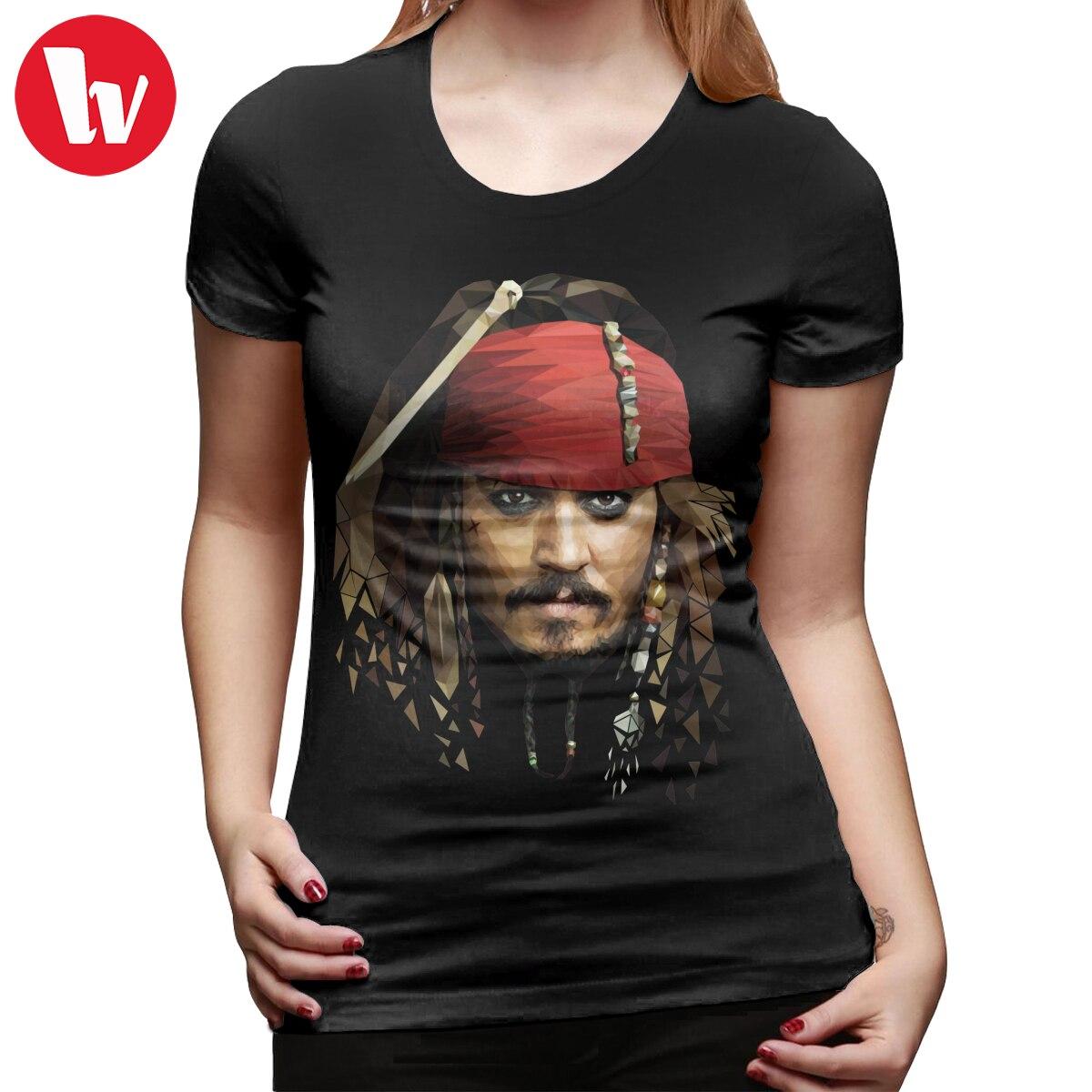 Jack sparrow camiseta capitão jack sparrow t camisa 100 algodão grande mulher tshirt impressão branca das senhoras camiseta