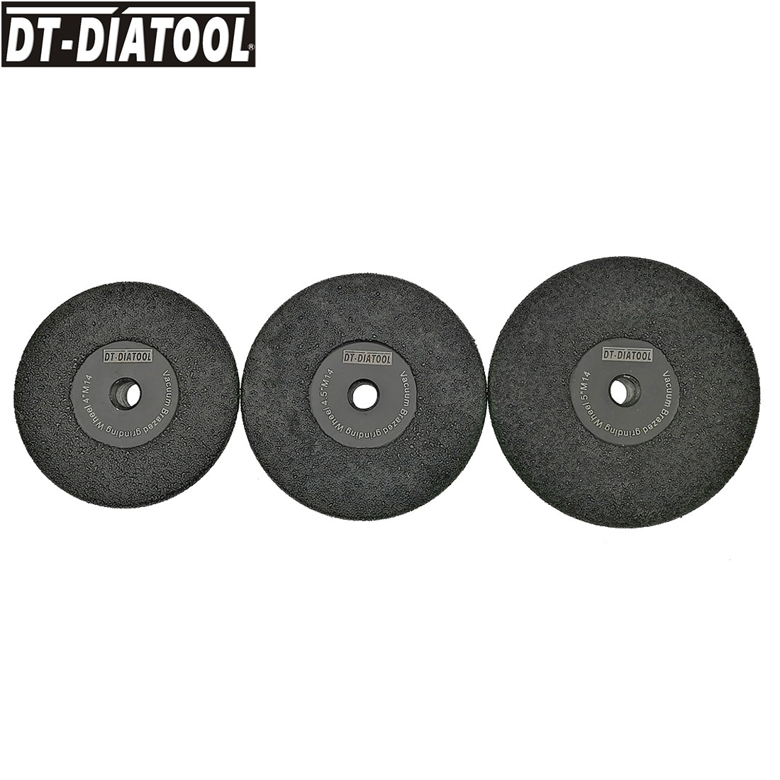 DT-DIATOOL Dia 105mm/115mm/125mm Vacuum Brazed Diamond Flat Grinding Wheel M14 Or 5/8-11 Thread Shaping Wheel Grit #30/40