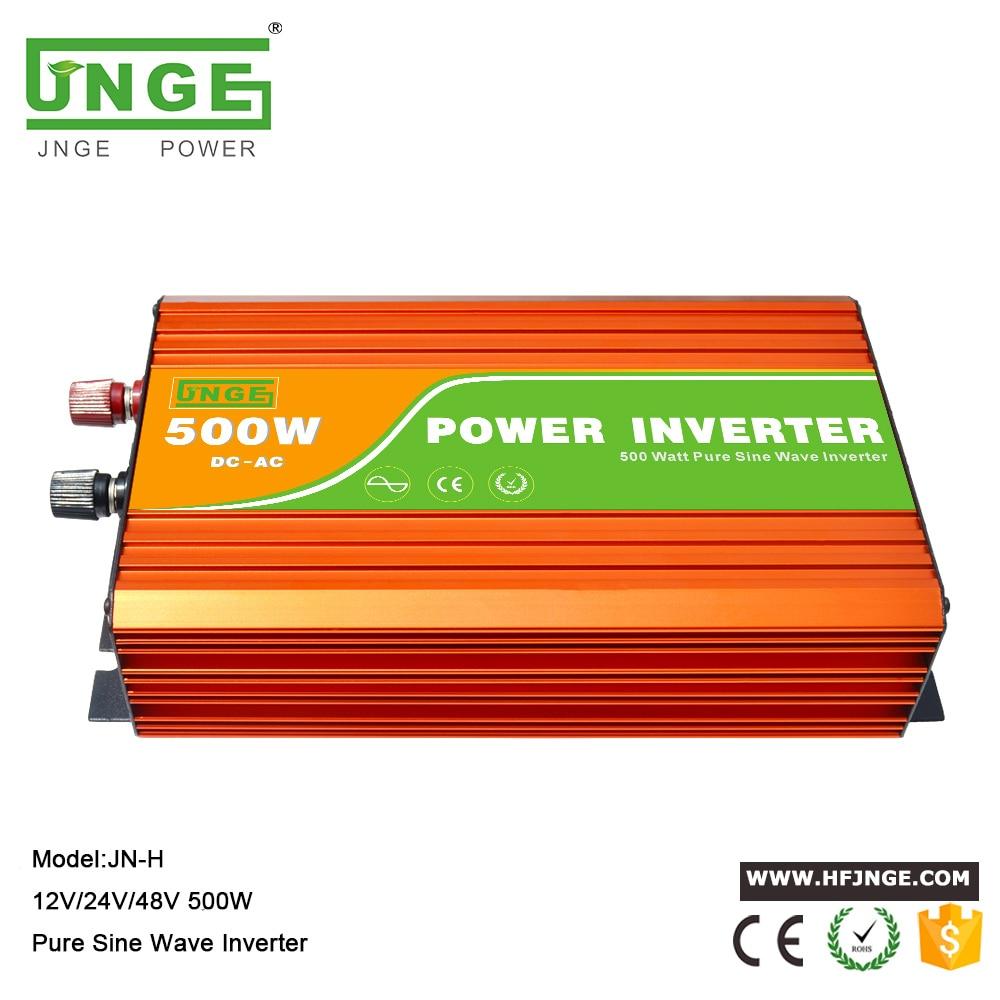 JNGE Inversor 500 واط ذروة الطاقة 1000 واط الشمسية العاكس 12 فولت 24 فولت