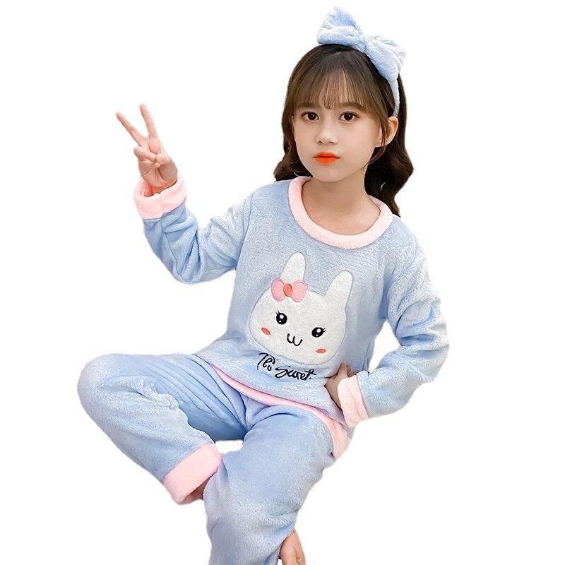 novo inverno criancas pijamas moda bebe meninas roupas criancas meninos quente camiseta