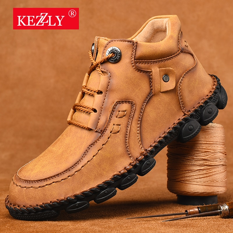Large Size Fashion Men Boots Winter Leather Snow Super Comfort Shoes Ankle