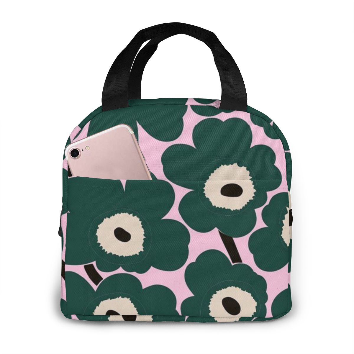 NOISYDESIGNS Poppy Design Print New Thermal Insulated Lunch Box Cooler Handbag Bento Pouch Dinner School Food Portable Bag