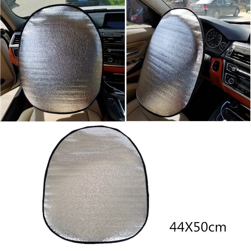 Car Steering Wheel Sun Shade Cover Accessories Sunshade Reflective Car Sun Sunshade Protection Protector Silver Aluminum Film