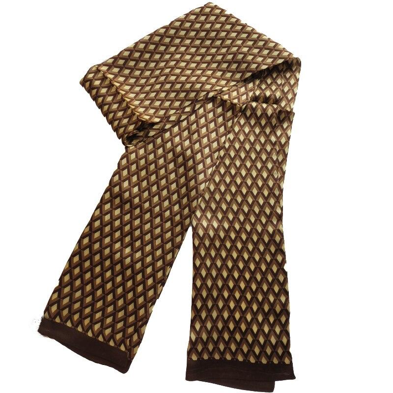 100% puro silkworm silkworm lenço de seda dupla camada longo neckerchief seda confortável