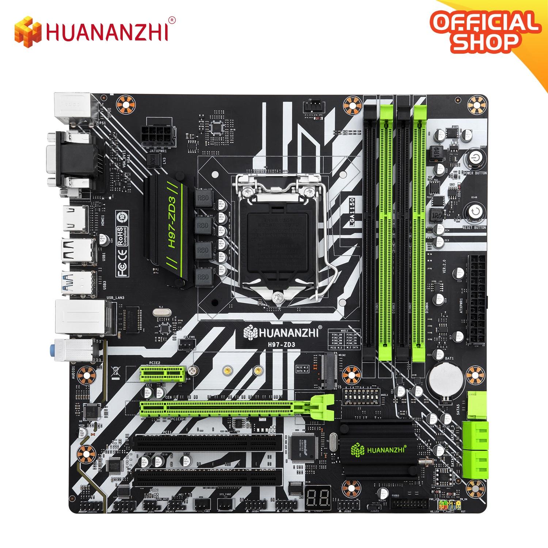HUANANZHI H97 ZD3 H97 اللوحة LGA 1150 M-ATX SATA3 USB3.0 NVME NGFF M.2 SSD دعم غير ecc RAM core i3 4130 i5 4460 i7 4770
