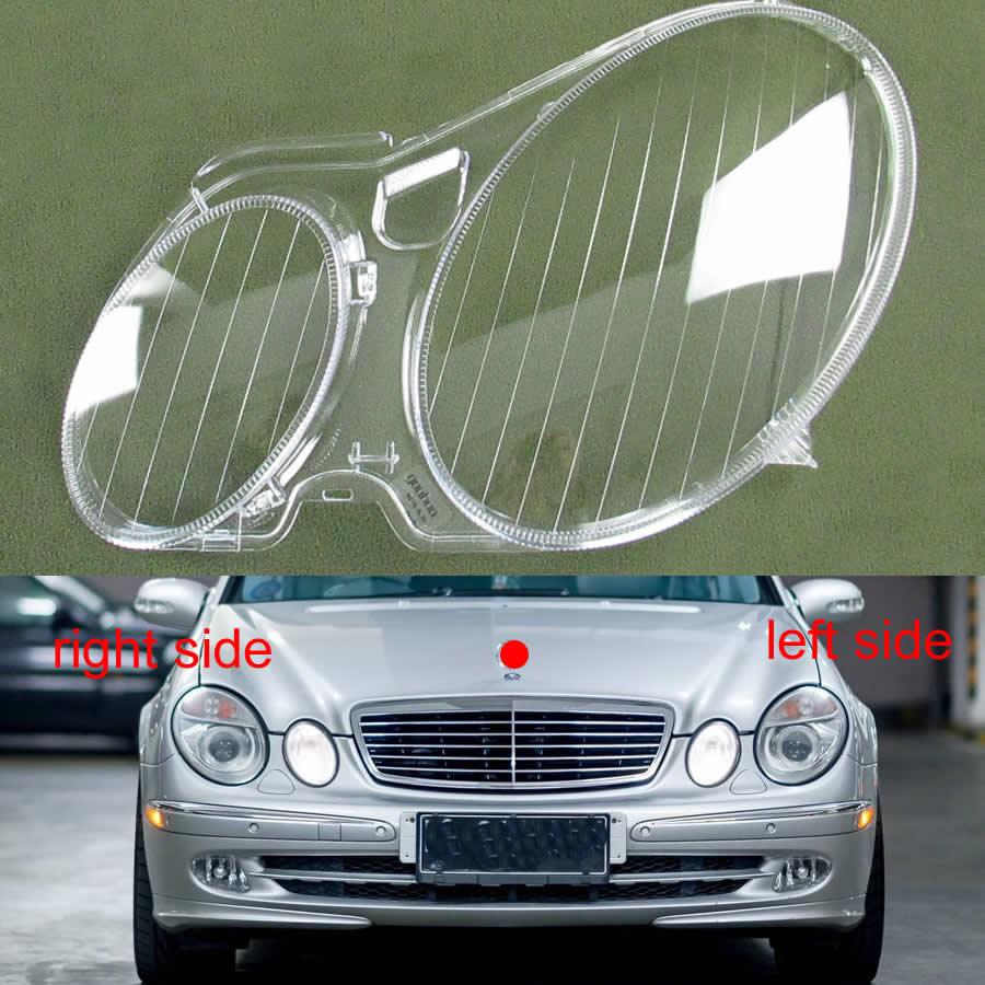 For 2004 2005 2006 2007 2008 2009 Benz W211 E240 E200 E280 E300 Headlight Shell Transparent Lampshade Cover Headlamp Glass