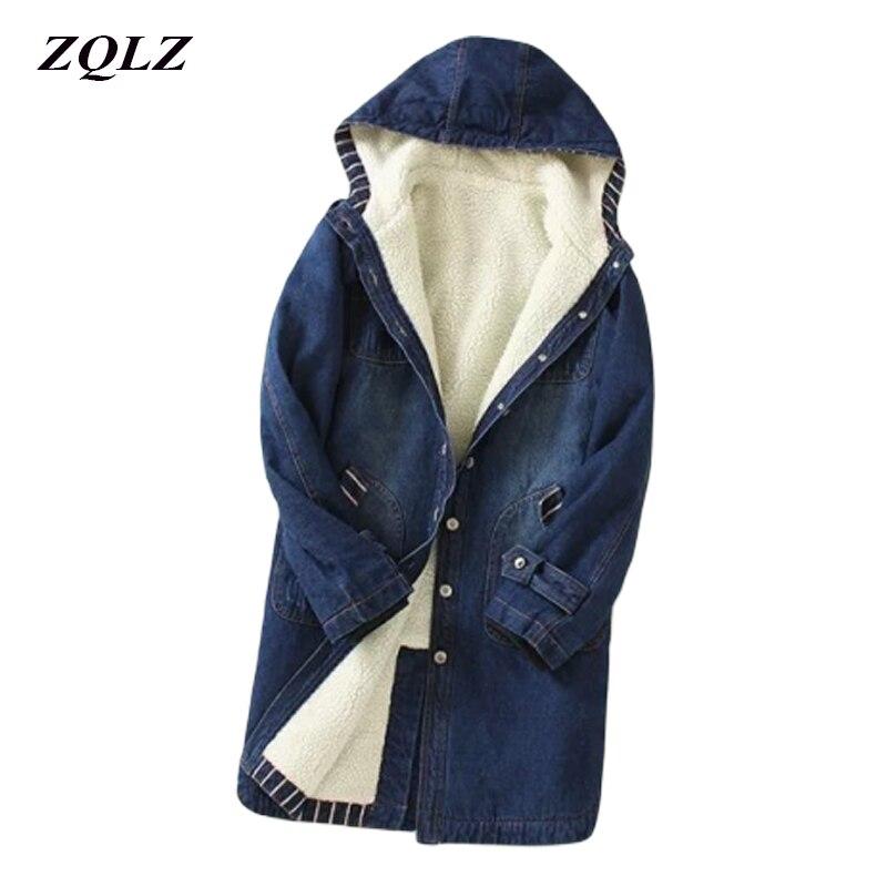 Куртка женская джинсовая с длинным рукавом, свободная повседневная верхняя одежда из денима, с мехом, Джинсовая Верхняя одежда, новинка зим...