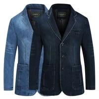 new mens denim blazer men fashion cotton vintage suit jacket 4xl male blue coat denim jacket men slim fit jeans blazers outwear