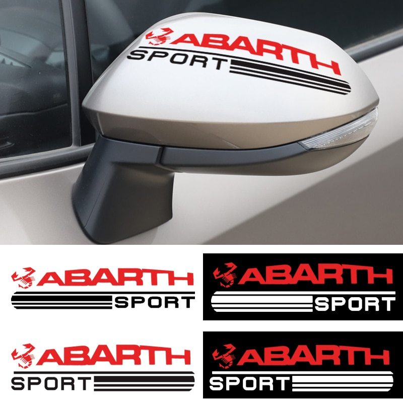 2 uds estilo de coche pegatina de espejo retrovisor de coche placa adhesiva del coche para Fiat Abarth 500 Stilo Ducato Palio placa estilo de coche