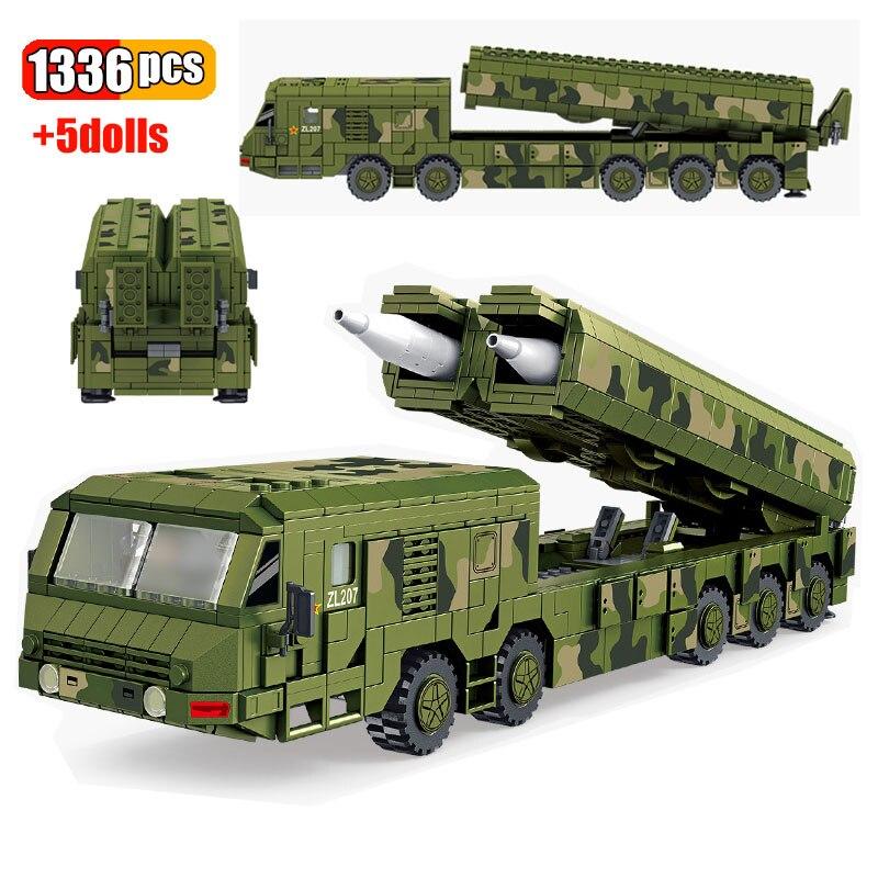 1336 قطعة WW2 العسكرية الجيش الصين طويل السيف 100 كروز صاروخ سيارة اللبنات عمل الجندي أرقام نموذج الاطفال اللعب الهدايا