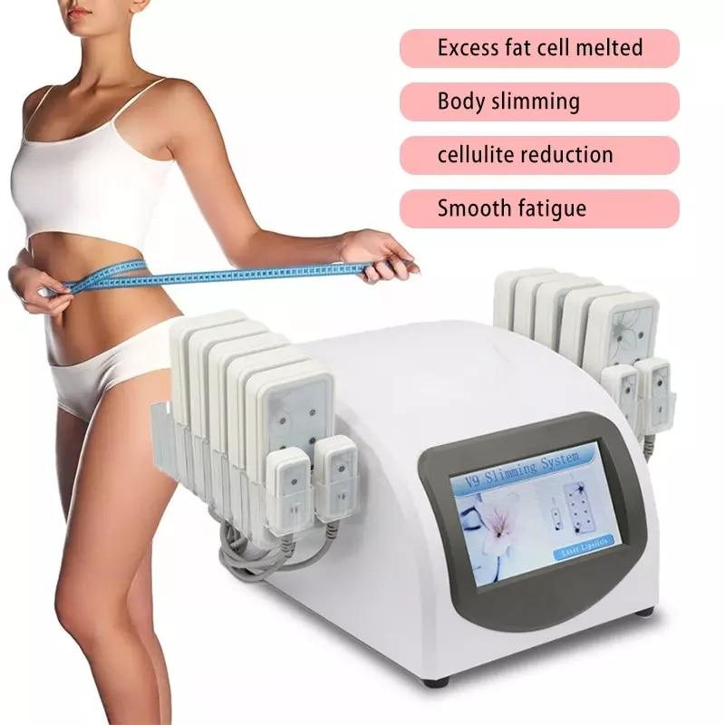 Professional Body Slimming Machine Liposuction Weight Loss 650nm Diode Laser 14 Lipo Pads Machines Massager Equipment Home Use