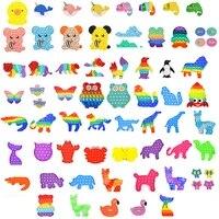 push bubble fidget toys animal shape adult children puzzle stress rainbow color relief puzzles toys antistress soft squishy gift
