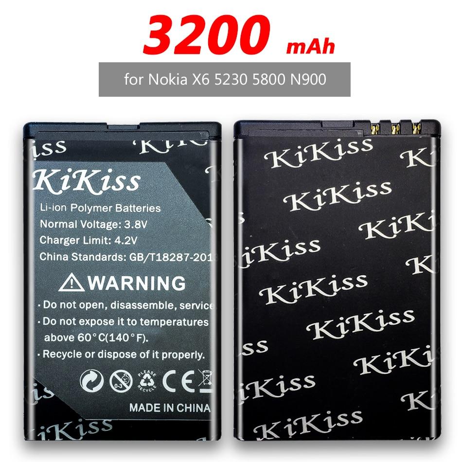 BL-5J аккумулятора для телефона 3200 мАч для Nokia 5230 5233 5800 3020 XpressMusic N900 C3 Lumia 520 525 530 5900 аккумулятор BL5J BL 5J + Track NO