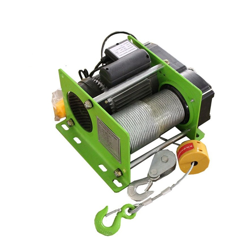 Wire rope electric hoist 220V micro electric winch 400 - 1000KG  30 - 100m
