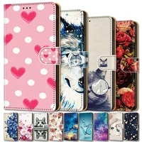 leather wallet case for tcl 10l 6 53 inch 10 pro 10 pro 6 47 inch full cover shockproof book style painted case