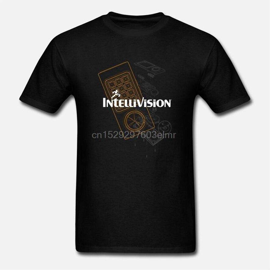 Забавная Мужская футболка белая футболка футболки черная футболка контроллер Intellivision Мужская футболка черная