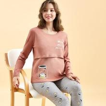 Maternity Clothing Autumn Long Sleeve Women Pregnancy Sleepwear Warm Winter Pregnant Long Johns Unde