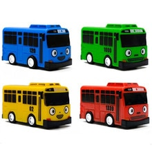 New 4pcs/set Tayo the little bus oyuncak araba car mini plastic pull back Tayo Gani Lani Rogi bus model for kids Christmas gift
