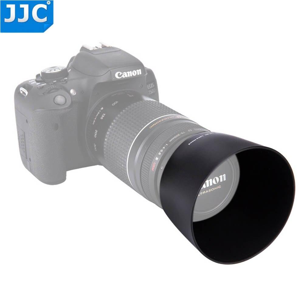 Capa da Lente da Câmera Et-60 para Canon Ef-s 4-5.6 é ii ef 75-300mm Iii Usm Jjc 55-250mm f –