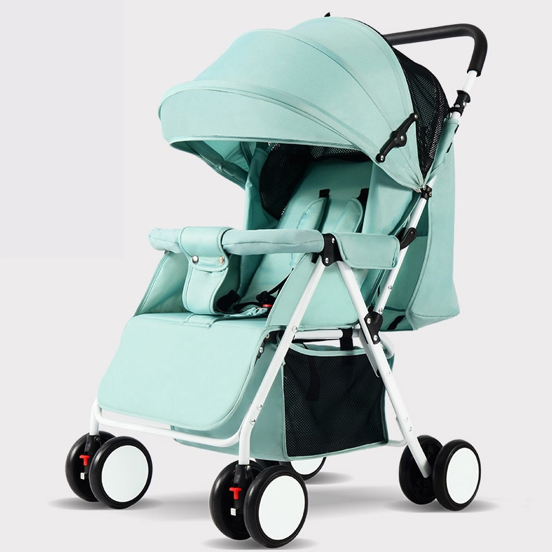 Portable Baby Stroller Folding Baby Carriage Ultra Lightweight and Convenient Can Sit Lie Baby Simple Child Mini Four Wheel Cart enlarge