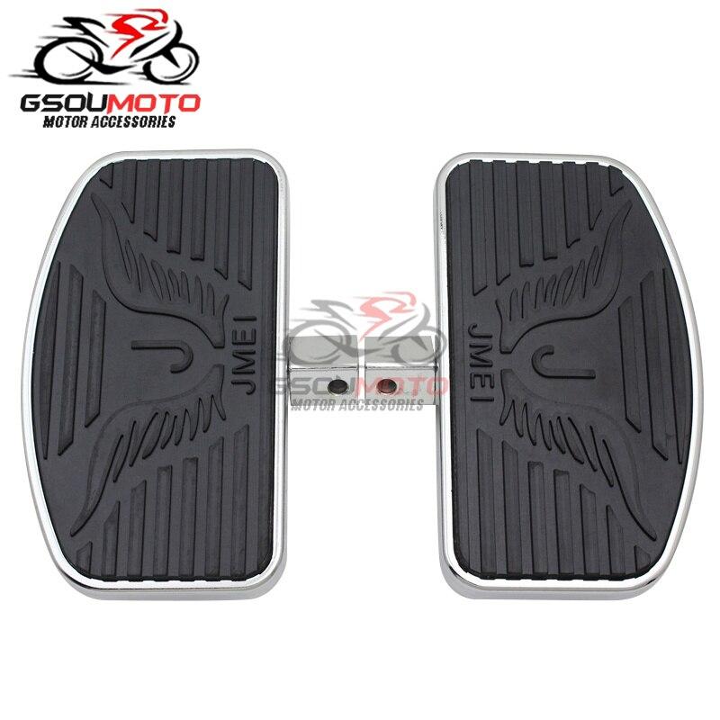 Motocicleta frente piloto apoio para os pés pé pegs pedais floorboards para honda shadow ace vt400 vt750 vt750c clássico personalizado 1997-2003