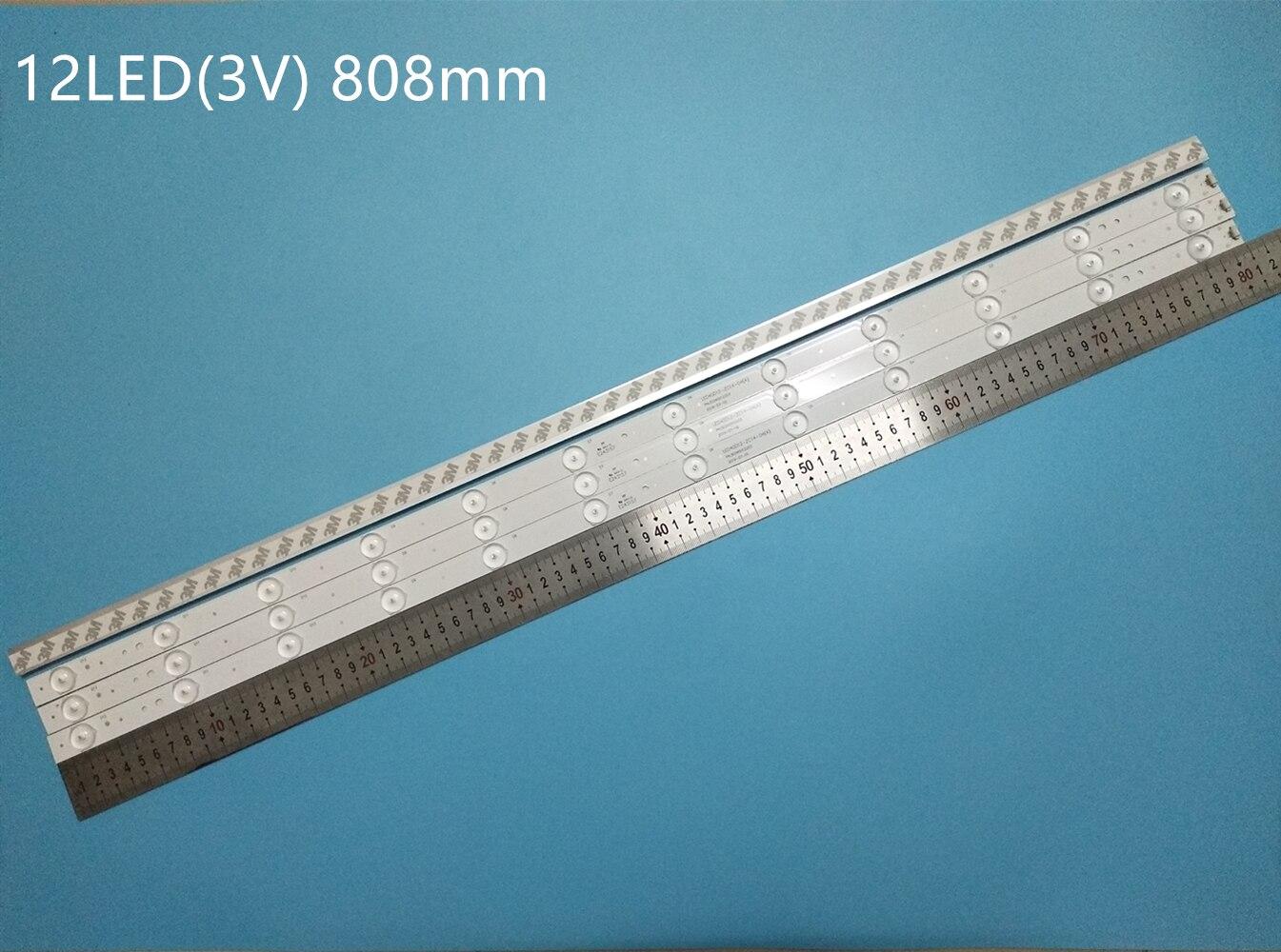 جديد 4 قطعة 12LED 808 مللي متر LED الخلفية قطاع ل LE40B3000 LED40ME1000 LED40D12-ZC14-04 ab LED40D12-03(B)