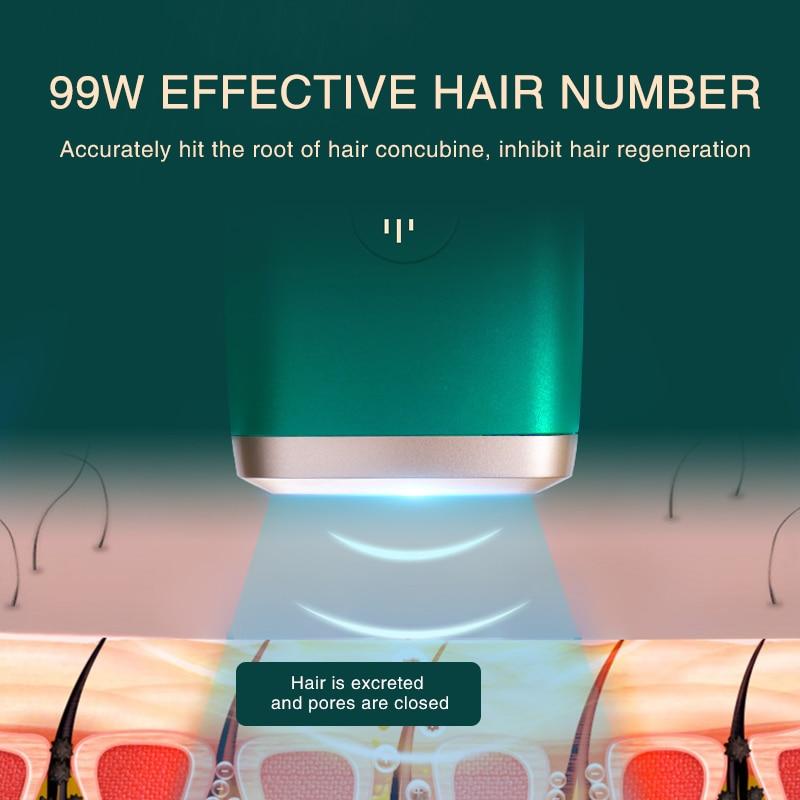 999999 Flashes 2021 New Laser Epilator Permanent IPL Photoepilator Hair Removal depiladora Painless electric Epilator enlarge