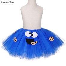 Ensemble de jupe Tutu bleu pelucheux pour filles   Ensemble de jupe en Tulle, pour fête danniversaire, Costume Tutu dhalloween, pour enfants