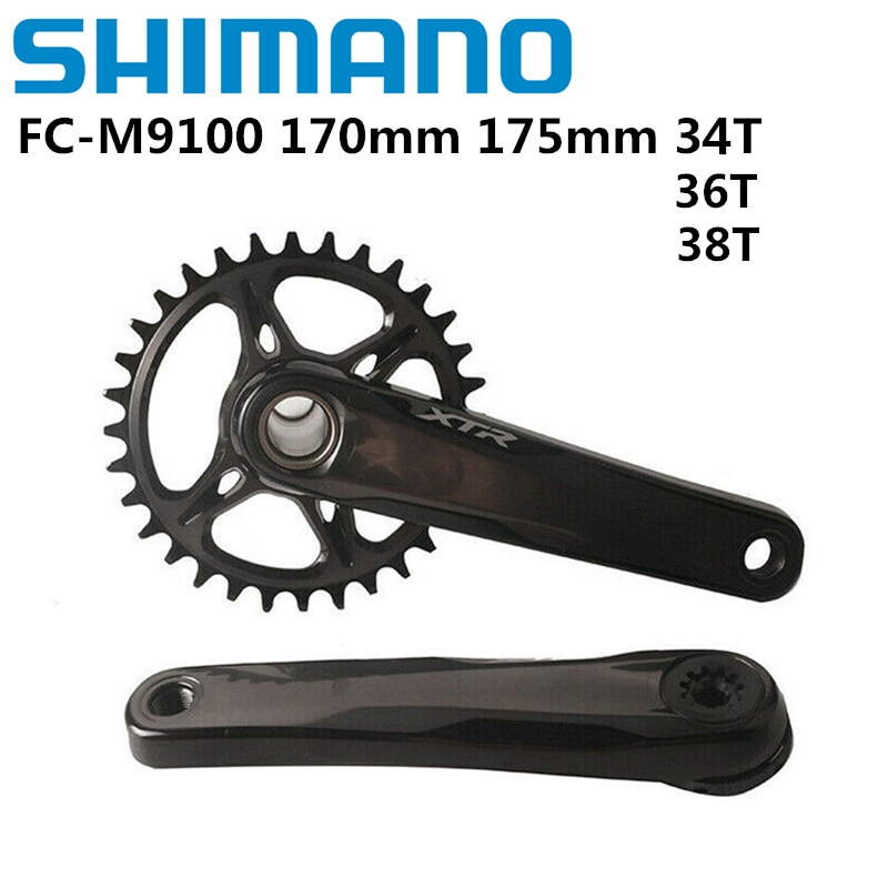 SHIMANO XTR M9100 165/170/175 مللي متر 34T 36T 38T 1x12 سرعة كرانسيت ل دراجة هوائية جبلية متب 12 s MT800 أسفل قوس بيديفيلا الأصلي