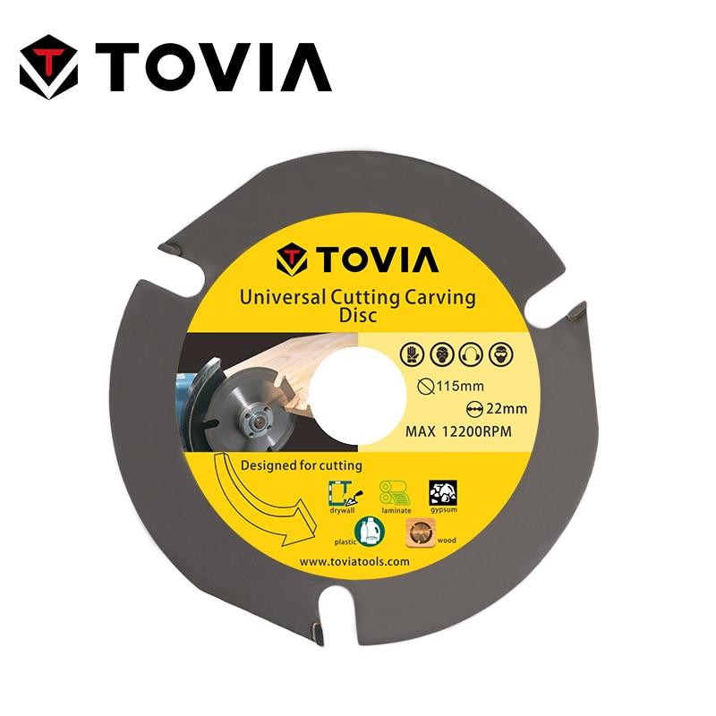 TOVIA 115MM Carbide Circular Saw Blade Angle Grinder Wood Cutting Disk For Wood Woodwork Cutter Wood Saw Blade Disc tovia 125mm carbide saw blades wood cutting disk cutting wood saw disc multitool wood cutter angle grinder for wood