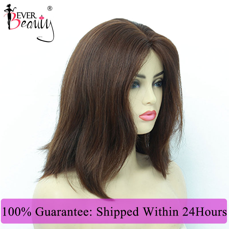 Jewish Wig Kosher Wigs European Hair Wig Straight Bob Human Hair #613 #4 Color Wigs For Women Double Drawn Ever Beauty Virgin
