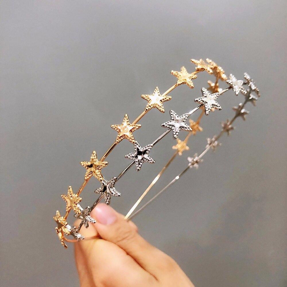 1pc Stern Form Stirnband Süße Mädchen Haarband Süßen Stirnband Schöne Haar Hoop für Mädchen Frauen Haar Bands Metall Kopfschmuck geschenke Heißer