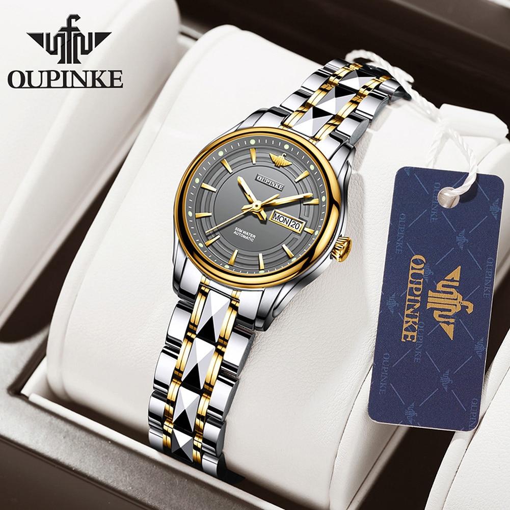 OUPINKE Women Mechanical Wristwatch Fashion Luxury Brand Ladies Watches Sapphire Automatic Self-Wind Bracelet Watch montre femme enlarge