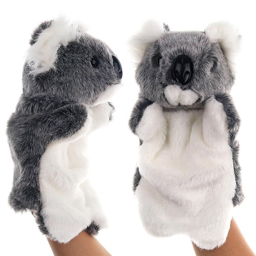 Precioso Koala de peluche Animal guante de la mano de papel jugar historia diciendo a los niños juguete temprano regalos educativos aprendizaje juguetes del bebé