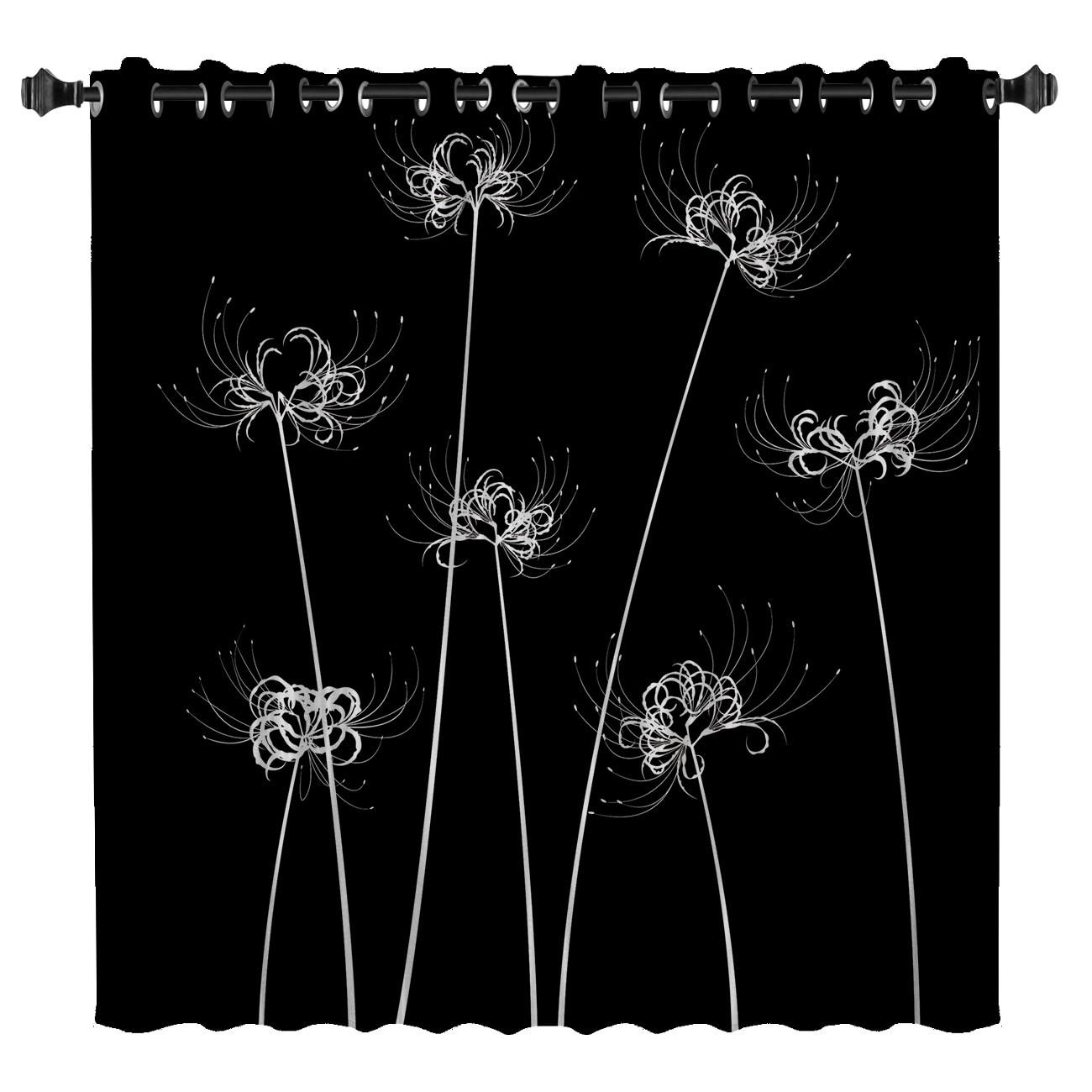 Blume Lycoris Radiata Fenster Behandlungen Vorhänge Volant Fenster Vorhänge Dark Vorhang Stange Blackout Bad Schlafzimmer Outdoor