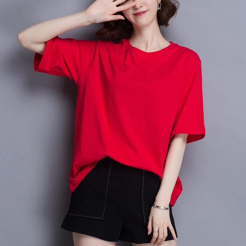 2020 T-Shirt Women Short Sleeves Shirt 100% Cotton Awesome Femme Summer Top
