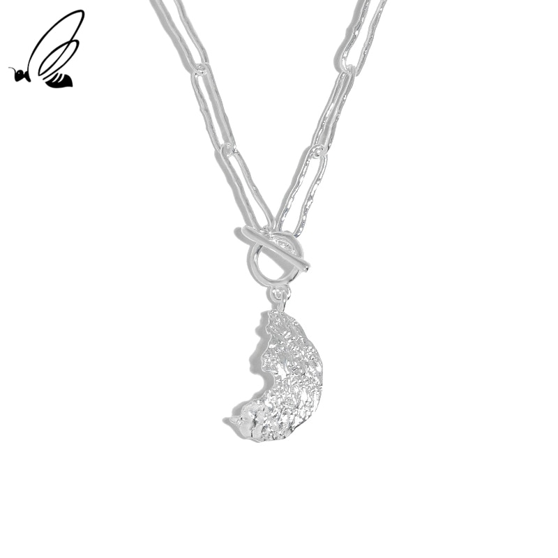 S'STEEL Moon Necklace Designer Accessories For Women Sterling Silver 925 2021 Trend Colgantes Mujer